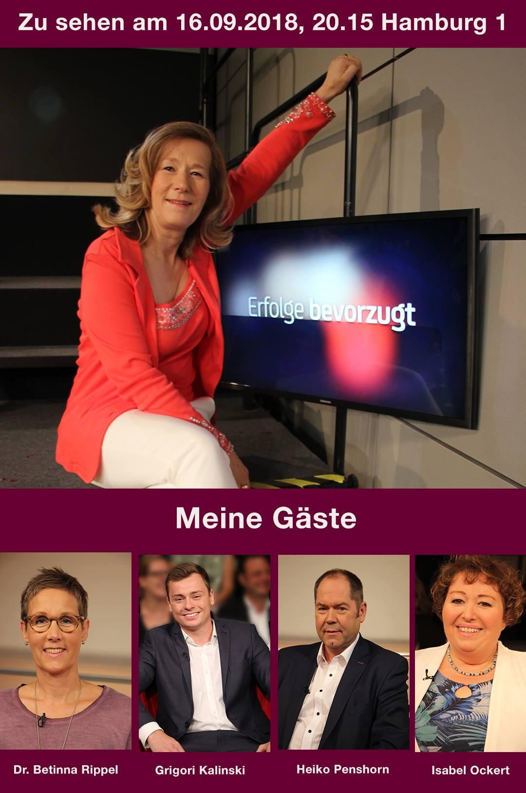 Dr. Bettina Rippel in der Talkshow mit Martina Hautau auf Hamburg 1